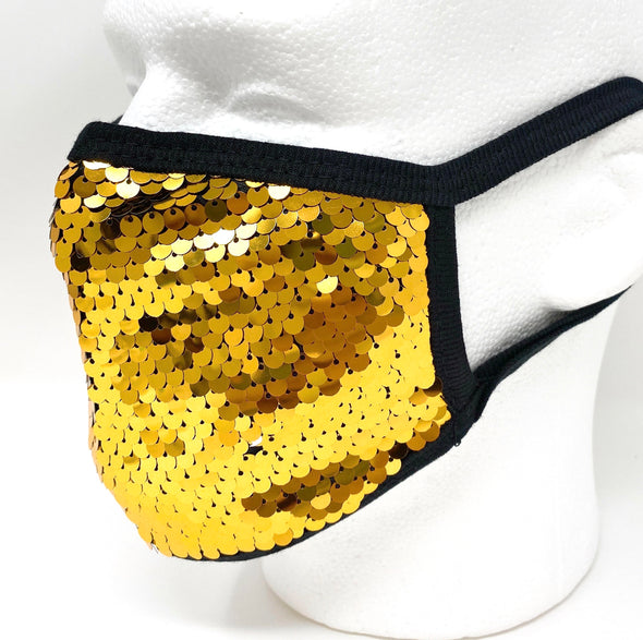 Sequin Glitter Face Mask Fashion Bling Sparkly Facial Protection - Fast Ship