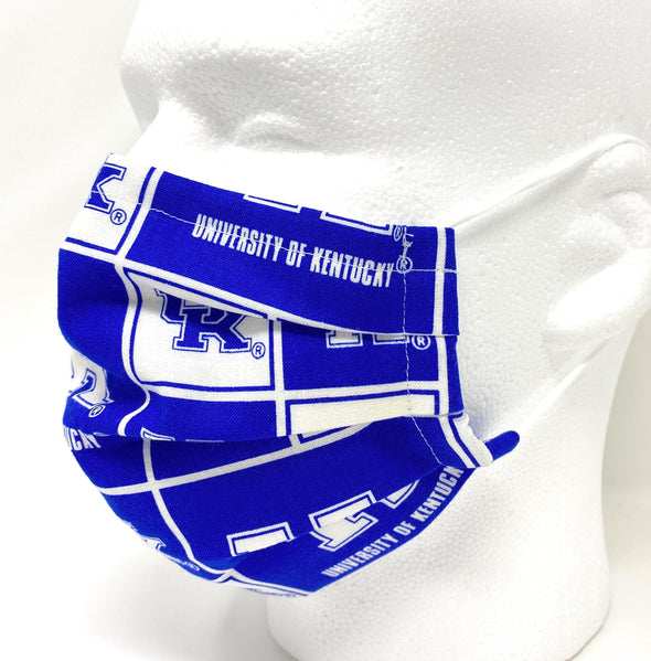 College Football Face Mask Filter Pocket Nose Wire Pleated - Filters Included
