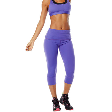 Zumba So Bootyful Capri Leggings - Purple Moon Z1B00321