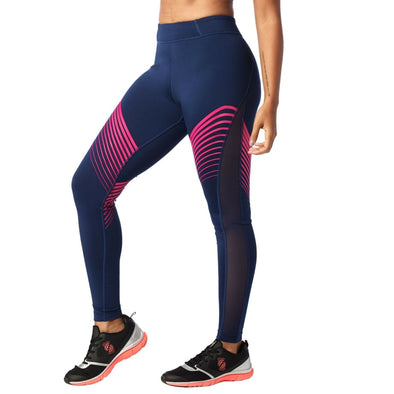 STRONG By Zumba Squat Sweat Sync High Waisted Ankle Leggings Blue Babe Z1B00684