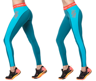 STRONG by Zumba Powered By The Beat Ankle Leggings - Deep Emerald Z1B00722