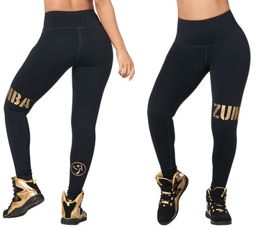 Zumba For All High Waisted Long Leggings - Bold Black Z1B00774
