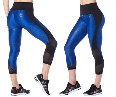 Strong by Zumba Always Reppin' High Waisted Cropped Leggings - Blue Z1B00776