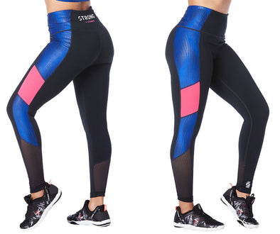 Strong by Zumba Don't Miss A Beat High Waisted Leggings - Bold Black Z1B00777