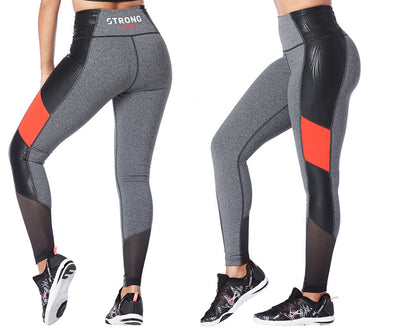 Strong by Zumba Don't Miss A Beat High Waisted Leggings - Heather Grey Z1B00784