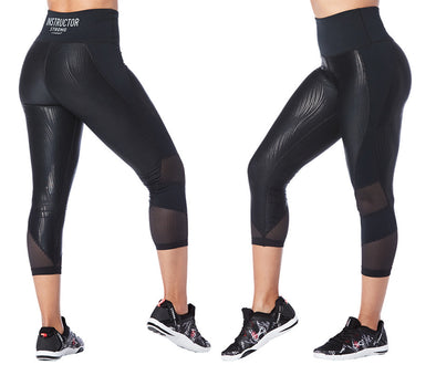 Strong by Zumba Always Reppin' Instructor High Waisted Cropped Leggings Z1B00785 XL