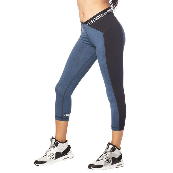 Zumba Fierce Female Capri Leggings - Z Denim Z1B00799