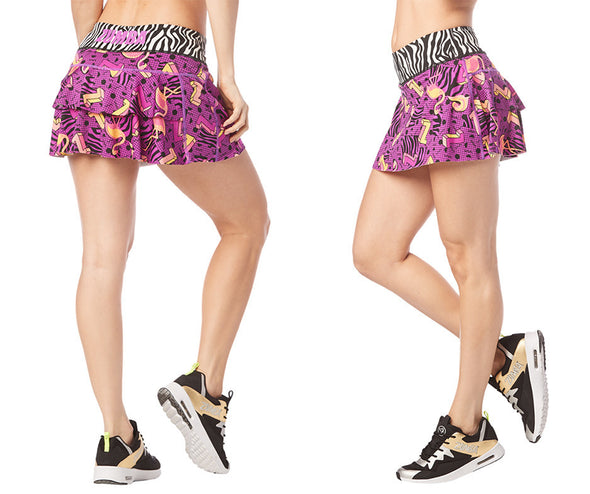 Zumba I Want My Zumba Skort - Purple Power Z1B00818