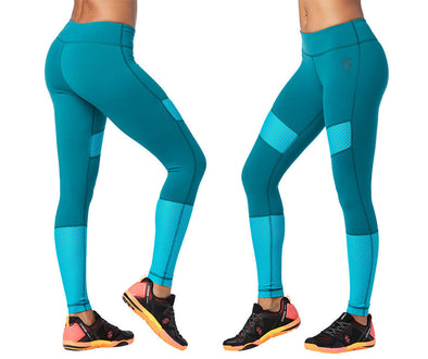 Strong by Zumba Squat Sync Sweat Ankle Leggings - Deep Emerald Z1B00827