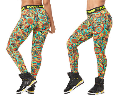 Zumba Feel Good Dance Good Long Leggings - Zumba Green Z1B00832