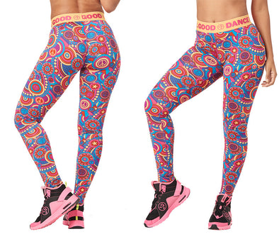 Zumba Feel Good Dance Good Long Leggings - Shocking Pink Z1B00832