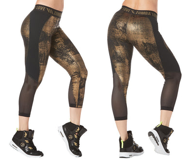 Zumba Love Panel Capri Leggings - Bold Black Z1B00853