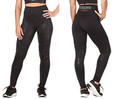 Strong by Zumba Don't Mesh With Me High Waisted Ankle Leggings - Black Z1B00868