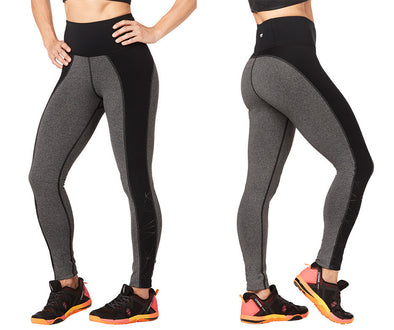 Strong by Zumba Rep After Rep High Waisted Ankle Leggings - Grey Z1B00870