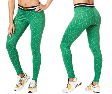 Zumba Next Level Long Leggings - Groovin' Green Z1B00878