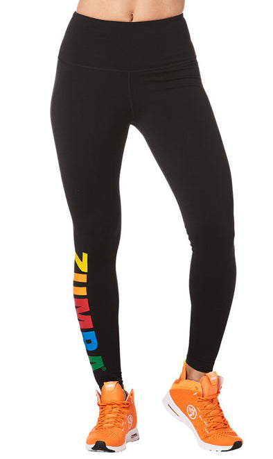Zumba Next Level High Waist Ankle Leggings - Bold Black Z1B00880 XS