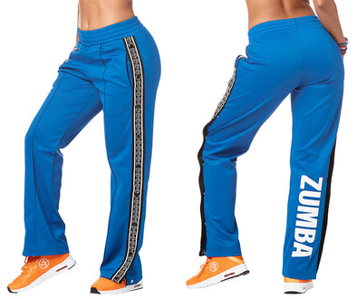 Zumba Varsity Tear-Away Track Pants - True Blue Z1B00882