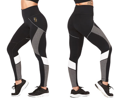 Zumba Train To The Beat High Waisted Ankle Leggings - Bold Black Z1B00886