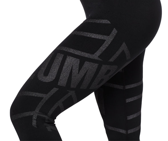 Zumba All That Glitters Is Zumba High Waisted Crop Leggings Bold Black Z1B00891