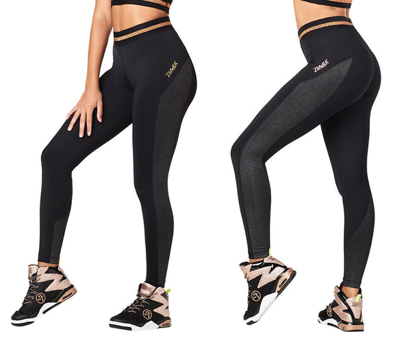 Zumba All That Glitters Is Zumba Ankle Leggings - Bold Black Z1B00893