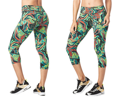 Zumba Feel Good Perfect Capri Leggings - Teal Me Everything Z1B00939