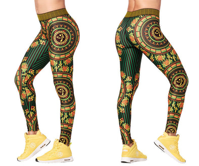 Zumba Mix It Up Long Leggings - Sunrays Z1B00950 size XS