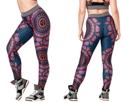 Zumba Mix It Up Long Leggings - Hot Fuchsia Z1B00950