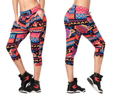 Zumba Dance Tribe Capri Harem Pants - Viva La Red Z1B00952