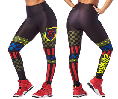 Zumba 2020 High Waisted Ankle Leggings - Bold Black Z1B00966
