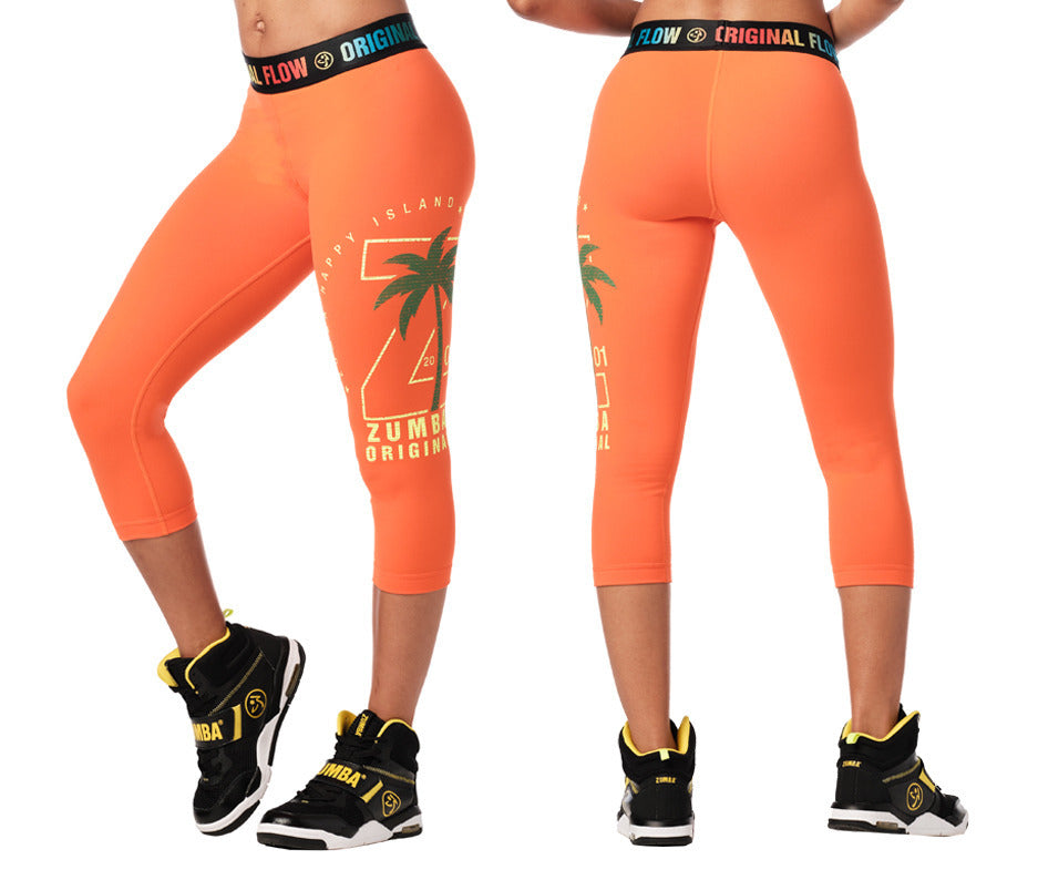 Zumba Original Flow Capri Leggings - 2 Colors Z1B01012