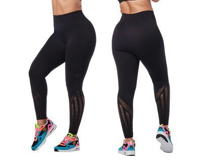 Zumba Don't Mesh With My Seamless Ankle Leggings - Bold Black Z1B01067