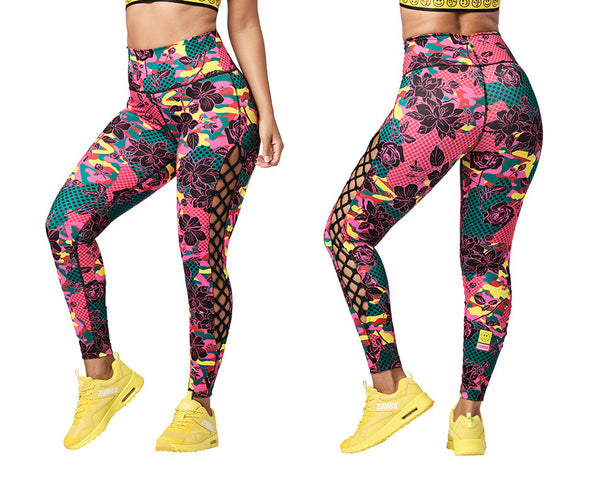 Zumba Spread Zumba Love High Waisted Laced Up Leggings - Z1B01077