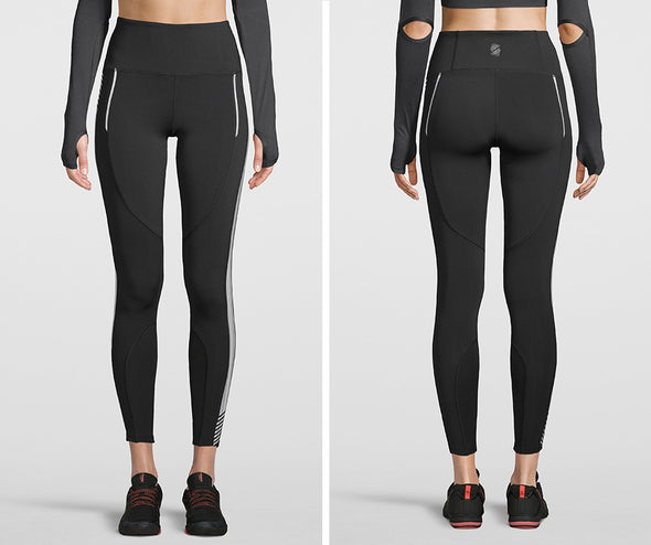 Strong Nation Laser High Waisted Leggings - Black Z1B01108