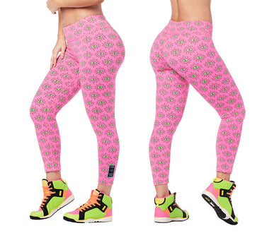 Zumba Luck High Waisted Crop Leggings - Ballet Pink Z1B01115