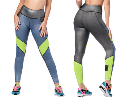 Zumba Hope High Waisted Ankle Leggings - Space Blue Z1B01118