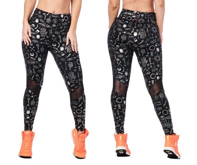Zumba Future High Waisted Ankle Leggings - Bold Black Z1B01120