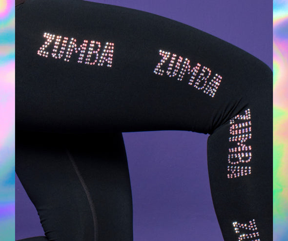 Zumba Future Ankle Leggings With Swarovski Crystals - Iridescent Z1B01136