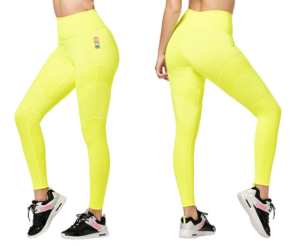 Zumba Bold Is The New Basic High Waisted Ankle Leggings - 2 Colors Z1B01147