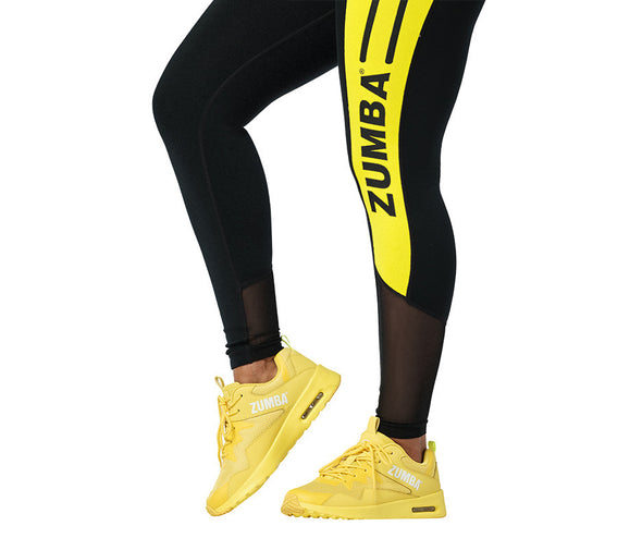 Zumba 01 High Waisted Ankle Leggings - Bold Black Z1B01155