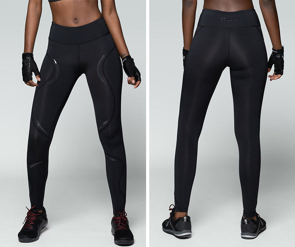 Strong ID Perfect Waistband Essential Leggings - Black Z1B01169