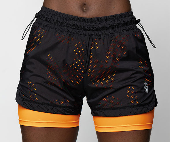 Strong ID Camo Compression Shorts - Black Z1B01175