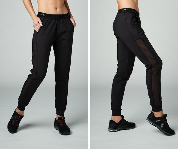Strong Nation STRONG ID Elastic Waistband Sport Jogger Sweatpants Black Z1B01176
