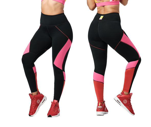 Zumba Love High Waisted Ankle Leggings - Bold Black Z1B01200
