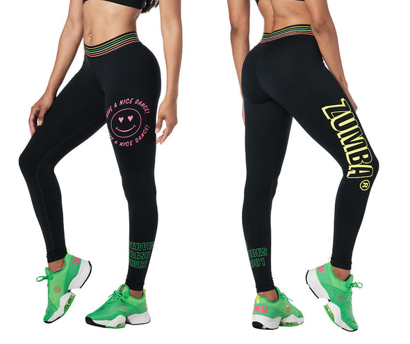 Zumba Pop Ankle Leggings - Bold Black Z1B01218