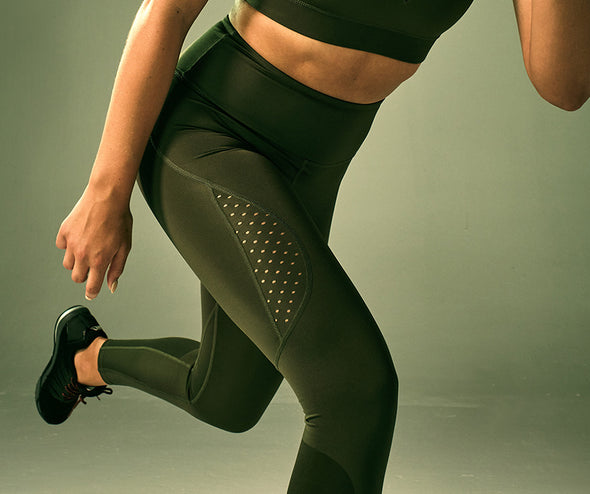 STRONG ID Performance High Waisted Leggings - Military Z1B01250