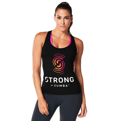 Strong By Zumba Instructor Racerback Top - Back to Black Z1S00045 XS