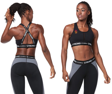 STRONG by Zumba Feel Every Beat Cross Back Bra - Z1T01513