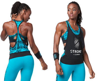 STRONG by Zumba Feel Every Beat Tank - Bold Black Z1T01515