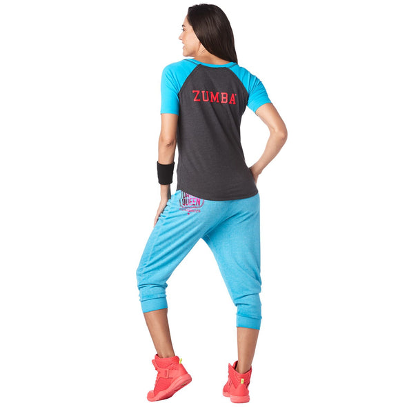 Zumba Life Is Better Baseball Tee - Bold Black Z1T01583