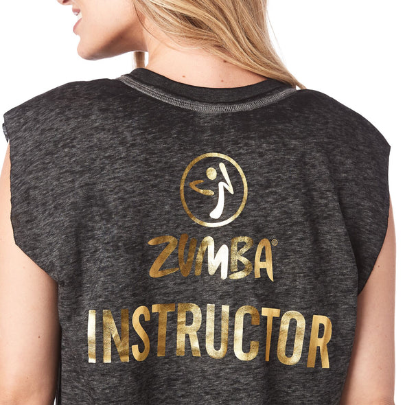 Zumba Happiness Hustler Instructor Sleeveless Pullover - Bold Black Z1T01586